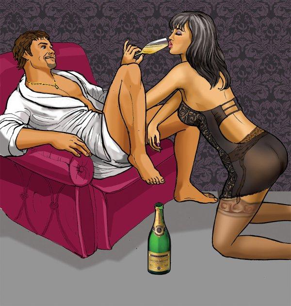 Для мужчины минет а для женщины