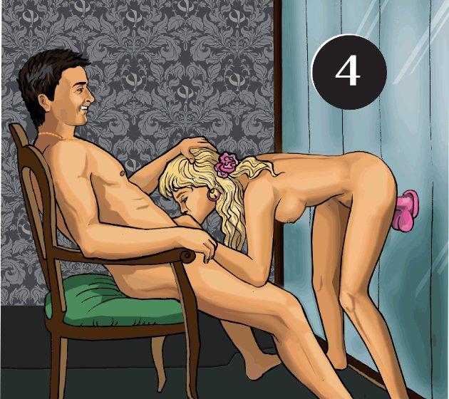 Секс позы на табуретке