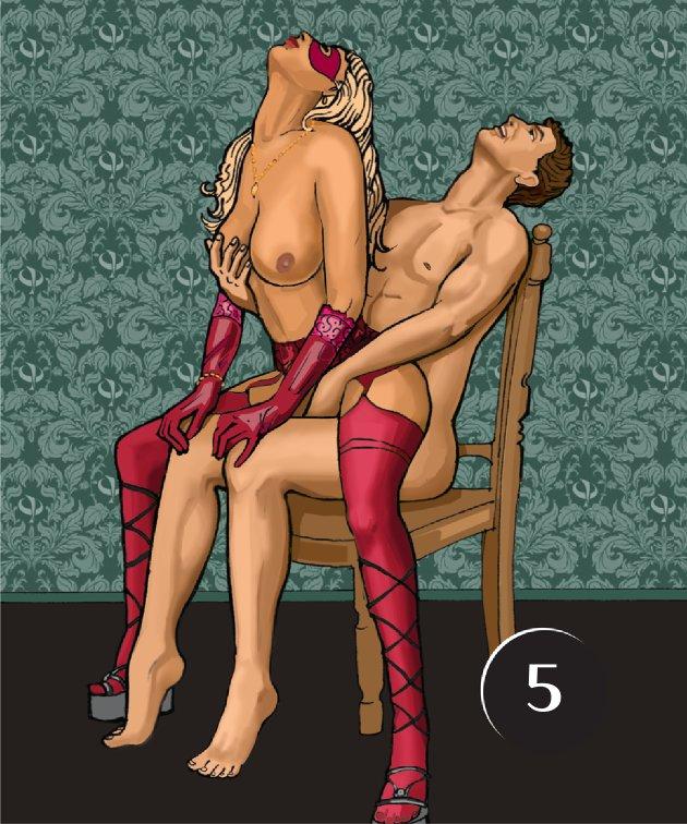 В какой позе лучше заниматься сексом в кресле