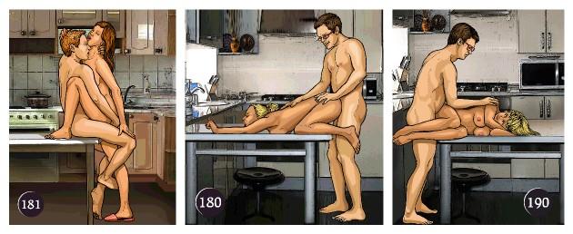 Занятие сексом на кухне
