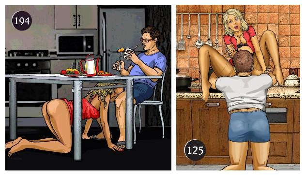 Фото секса на кухни секс муж жена