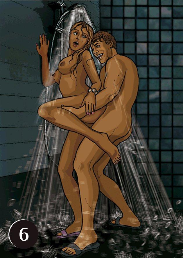 Секс на свидание в ване