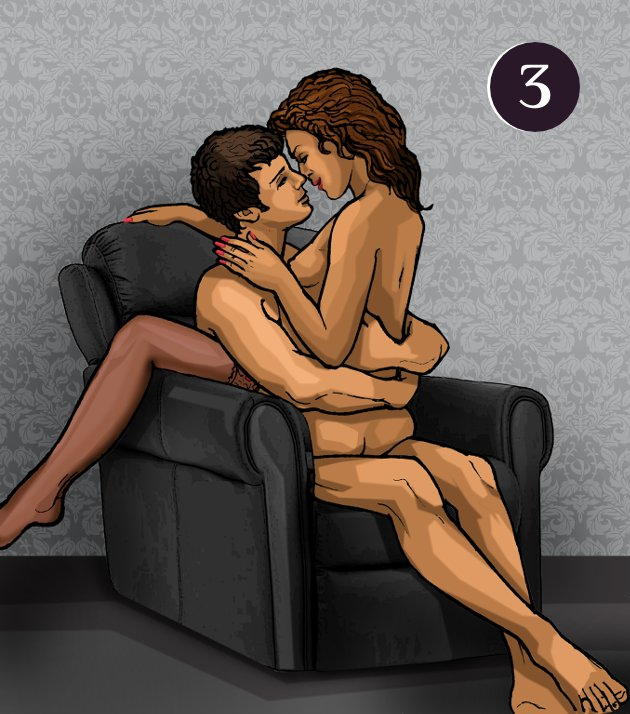 Секс в кресле мужчина сверху бабами толчке видео