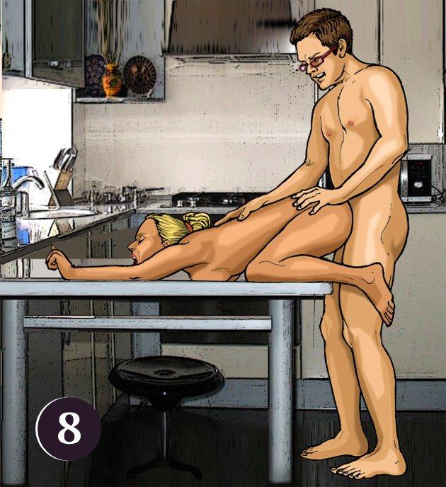 Секс позы на столах видио